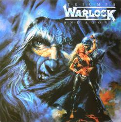 Warlock poster: Triumph and Agony vintage LP/Album flat (1987)