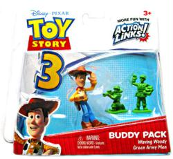 Toy Story 3: Waving Woody & Green Army Men figure Buddy Pack (Mattel)