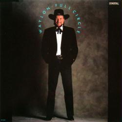 Waylon Jennings poster: Full Circle vintage LP/Album flat