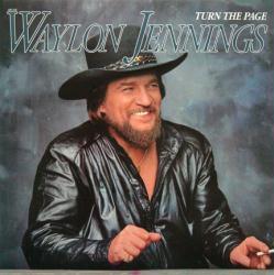 Waylon Jennings poster: Turn the Page vintage LP/Album flat