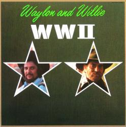 Waylon Jennings and Willie Nelson poster: WWII vintage LP/album flat