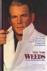 Weeds movie poster (1987) [Nick Nolte] original 27x40