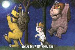 Where the Wild Things Are poster: Moon (36'' X 24'') Maurice Sendak