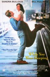 While You Were Sleeping movie poster [Sandra Bullock/Bill Pullman] NM