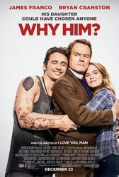 Why Him? movie poster [James Franco, Bryan Cranston] original 27x40