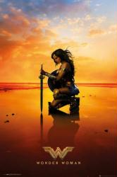 Wonder Woman movie poster: Kneeling [Gal Gadot] 24x36