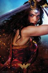 Wonder Woman movie poster: Defend [Gal Gadot] 24x36
