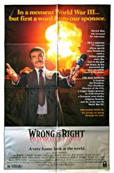 Wrong Is Right movie poster [Sean Connery] 27x41 original