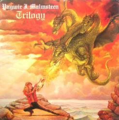 Yngwie J. Malmsteen poster: Trilogy vintage LP/Album flat