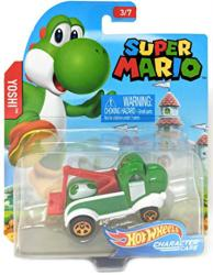Hot Wheels Character Cars: Super Mario Yoshi die-cast vehicle