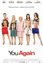 You Again movie poster [Kristen Bell/Jamie Lee Curtis/Betty White] VG