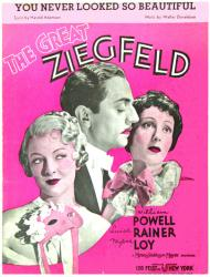You Never Looked So Beautiful vintage sheet music [The Great Ziegfeld]