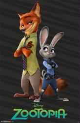 Zootopia movie poster: Partners (22x34) Judy & Nick