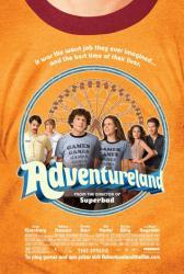 Adventureland movie poster [Jesse Eisenberg/Kristen Stewart/Wiig]
