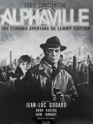 Alphaville Une Etrange Aventure de Lemmy Caution movie poster [Godard]