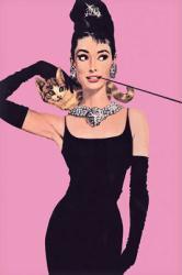 Audrey Hepburn poster: Pink (24'' X 36'' poster)