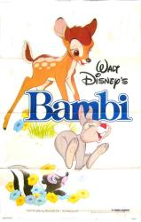 Bambi movie poster [Disney] original 1982 re-issue one-sheet