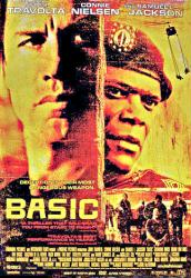 Basic movie poster [John Travolta, Samuel L. Jackson] 27x40