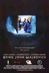 Being John Malkovich movie poster [John Cusack, Cameron Diaz] 27x40