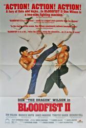 Bloodfist II movie poster [Don ''The Dragon'' Wilson] 27x40