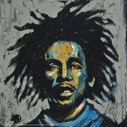Bob Marley poster: Redemption by David Garibaldi (24'' X 24'') New