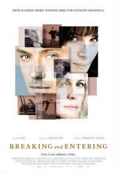 Breaking and Entering movie poster [Jude Law & Juliette Binoche] VG