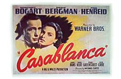 Casablanca movie poster [Humphrey Bogart & Ingrid Bergman]