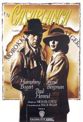 Casablanca movie poster [Humphrey Bogart/Ingrid Bergman] International