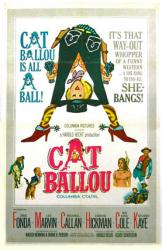 Cat Ballou movie poster [Jane Fonda & Lee Marvin] 11'' X 17''