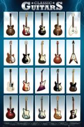 Classic Guitars (24'' X 36'' Poster) New