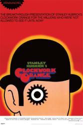 A Clockwork Orange movie poster [a Stanley Kubrick film] 24'' X 36''
