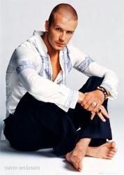 David Beckham: Seated (24'' X 36'' Poster) New