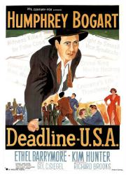 Deadline U.S.A. movie poster [Humphrey Bogart, Kim Hunter] 26x38