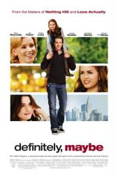 Definitely, Maybe movie poster [Ryan Reynolds, Abigail Breslin] 27x40