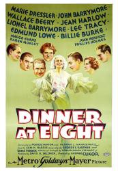 Dinner At Eight movie poster (1933) [John Barrymore & Jean Harlow]