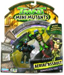 TMNT Mini Mutants Aerial Assault: Donatello & Foot figures (Playmates)