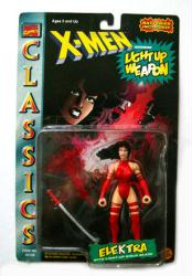 X-Men Classics: Elektra action figure w/ Light Up Weapon (ToyBiz/1996)