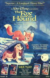 The Fox and the Hound movie poster [Disney video poster] 26x40