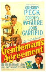 Gentleman's Agreement movie poster [Gregory Peck & Dorothy McGuire]