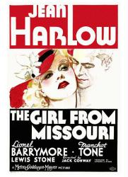 The Girl From Missouri movie poster (1934) [Jean Harlow/Franchot Tone]