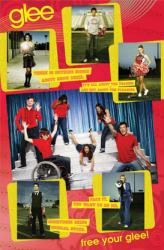 Glee poster [Lea Michele, Cory Monteith & TV cast) 22 1/2'' X 34''