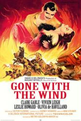 Gone With the Wind movie poster [Clark Gable & Vivien Leigh]