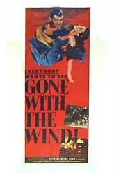 Gone With the Wind movie poster [Clark Gable & Vivien Leigh] Insert