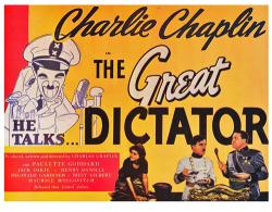 The Great Dictator movie poster [Charlie Chaplin & Paulette Goddard]