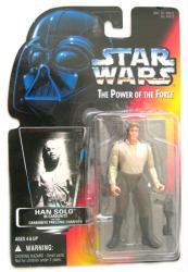 Star Wars [POTF] Han Solo in Carbonite Block figure (Kenner/1996)