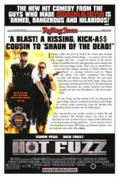 Hot Fuzz movie poster [Simon Pegg & Nick Frost] Rolling Stone review