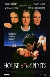 House of the Spirits poster [Meryl Streep, Winona Ryder, Jeremy Irons]