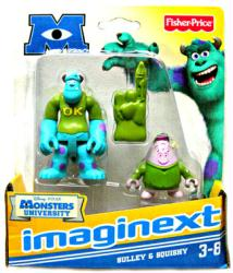 Imaginext Monsters University: Sulley & Squishy figures (Fisher Price)