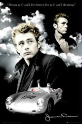 James Dean poster [Clouds] 24'' X 36''