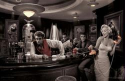 Java Dreams poster [James Dean, Marilyn Monroe, Bogart, Elvis] 36x24